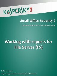 Working with reports for File Server (FS)