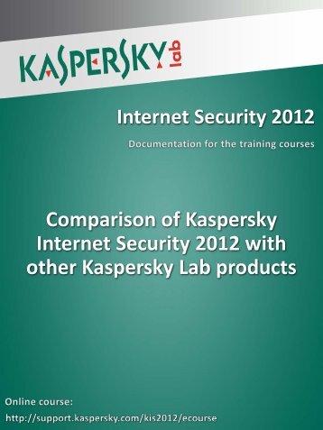 Comparison of Kaspersky Internet Security 2012 ... - Kaspersky Lab