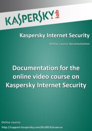 Documentation for the online video course on ... - Kaspersky Lab