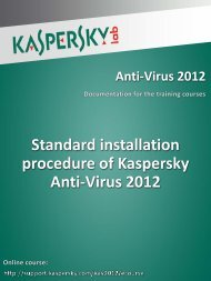 Standard installation procedure of Kaspersky Anti ... - Kaspersky Lab