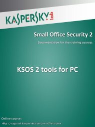 KSOS 2 tools for PC - Kaspersky Lab