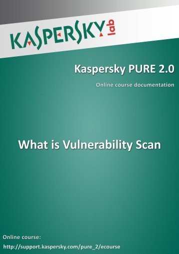 What is Vulnerability Scan - Kaspersky Lab