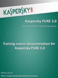 Course documentation - Kaspersky Lab