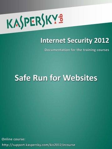 Starting Safe Run for Websites - Kaspersky Lab