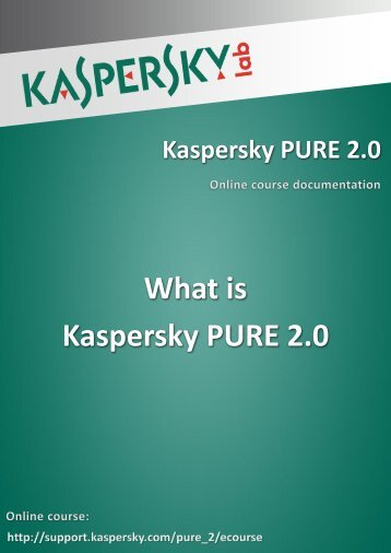 What is Kaspersky PURE 2.0 - Kaspersky Lab