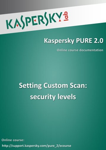 Setting Custom Scan: security levels - Kaspersky Lab