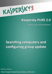 Searching computers and configuring group update