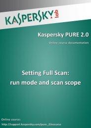 Setting Full Scan: run mode and scan scope