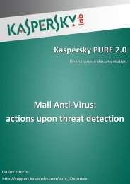 Mail Anti-Virus: actions upon threat detection - Kaspersky Lab