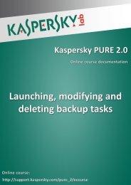 Launching, modifying and deleting backup tasks