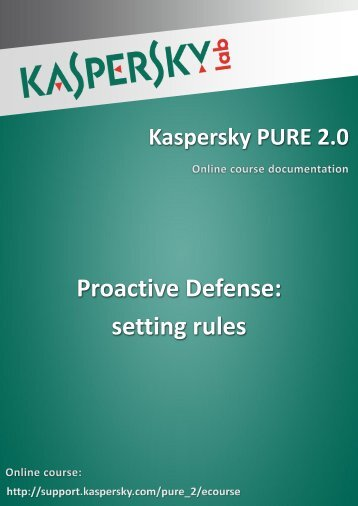 Proactive Defense: setting rules