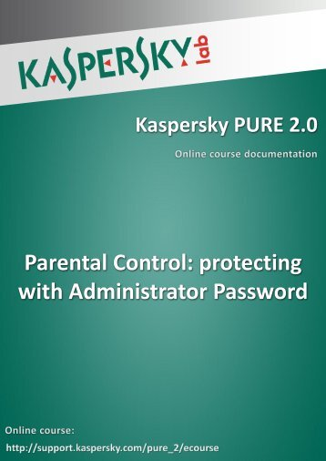 Parental Control: protecting with Administrator Password