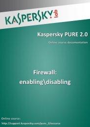 Firewall: enabling\disabling