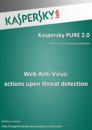 Web Anti-Virus: actions upon threat detection - Kaspersky Lab