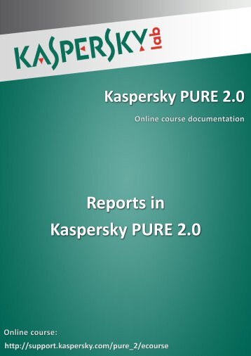 Reports in Kaspersky PURE 2.0