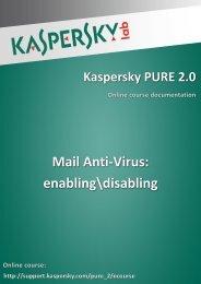 Mail Anti-Virus: enabling\disabling