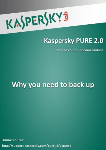 Why you need to back up - Kaspersky Lab