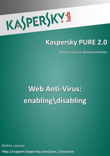 Web Anti-Virus: enabling\disabling