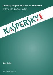 Kaspersky Endpoint Security 8 for Smartphone for Microsoft ...