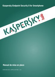 Kaspersky Endpoint Security 8 for Smartphone - Kaspersky Lab