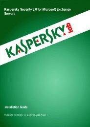 Kaspersky Security 8.0 for Microsoft Exchange ... - Kaspersky Lab