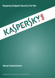Kaspersky Endpoint Security 8 for Mac Manuel d ... - Kaspersky Lab