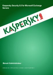 Kaspersky Security 8.0 for Microsoft Exchange ... - Kaspersky Lab