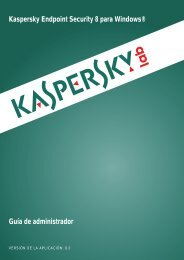 Kaspersky Endpoint Security 8 for Windows® - Kaspersky Lab