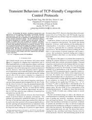 Transient Behaviors of TCP-friendly Congestion Control ... - Utopia