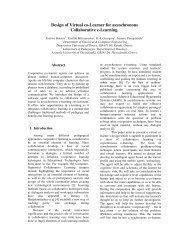Design of Virtual co-Learner for asynchronous Collaborative e ...
