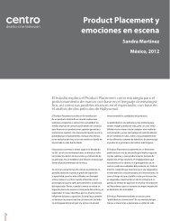 Product Placement y emociones en escena - Centro
