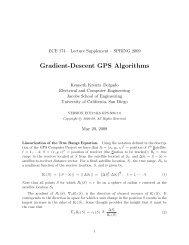 Gradient-Descent GPS Algorithms - UCSD DSP Lab