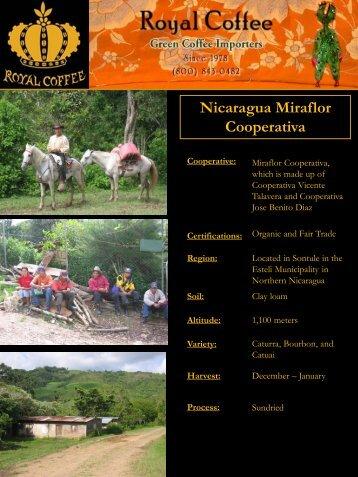 Nicaragua Miraflor Cooperativa - Royal Coffee, Inc.