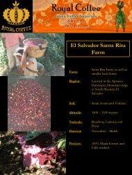 El Salvador Santa Rita Farm - Royal Coffee, Inc.
