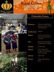 Colombia Cauca - Royal Coffee, Inc.