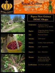 Papua New Guinea HOAC Okapa - Royal Coffee, Inc.