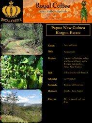 Papua New Guinea Korgua Estate - Royal Coffee, Inc.