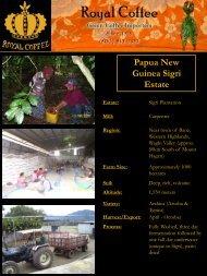 Papua New Guinea Sigri Estate - Royal Coffee, Inc.