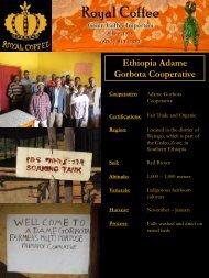 Ethiopia Adame Gorbota Cooperative - Royal Coffee, Inc.