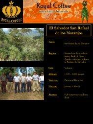 El Salvador San Rafael de los Naranjos - Royal Coffee, Inc.