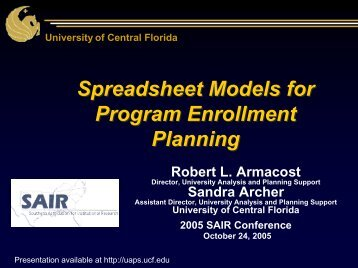 Program Enrollment Projections - University Analysis and Planning ...