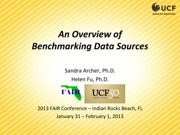 An Overview of Benchmarking Data Sources - University Analysis ...