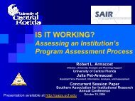 IS IT WORKING? Assessing an Institution's Program Assessment ...