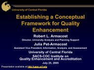What Is Quality? - University Analysis and Planning Support ...
