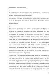 postmodernisme - Horsens HF og VUC