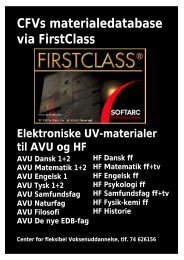CFVs materialedatabase via FirstClass - Horsens HF og VUC