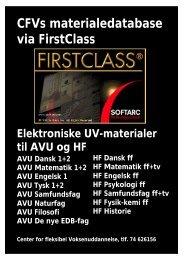 CFVs materialedatabase via FirstClass - Horsens HF og VUC