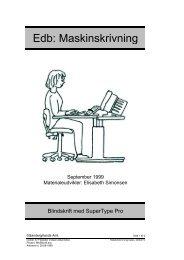Edb: Maskinskrivning - Horsens HF og VUC