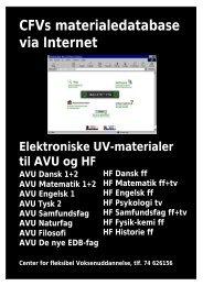 CFVs materialedatabase via Internet - Horsens HF og VUC