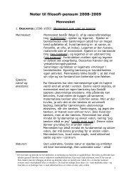 Noter til filosofi-pensum - Horsens HF og VUC
